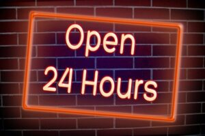 Open 24 Hours to Serve